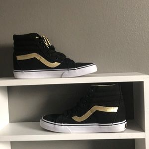 Vans Sk8 Hi Black/Gold 50th Anniversary